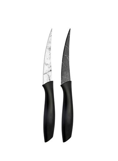The Mia Cutt Kesme Bıçağı 18 Cm - 2 Li Set Siyah